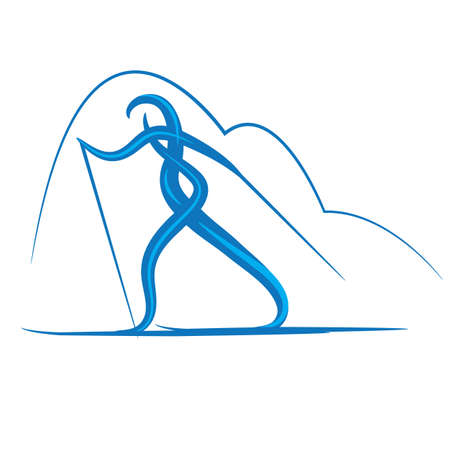 symbol of cross-country skiing Stock Vector - 16213874