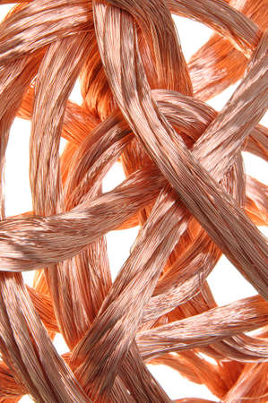 Copper wire in abstract form Stock Photo - 16538604