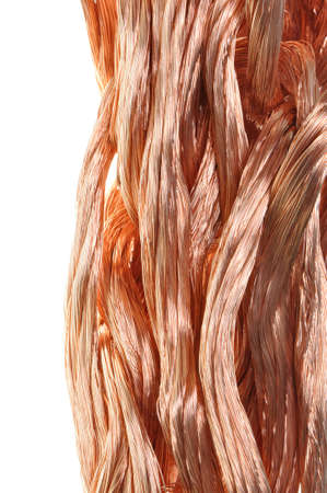 conductivity: Copper wire in abstract form,  Stock Photo