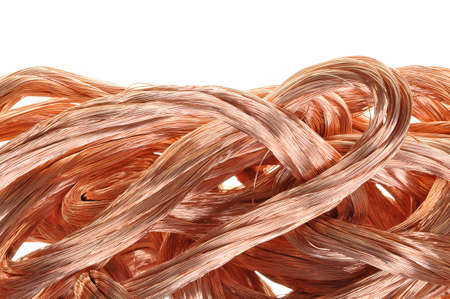 Copper wire in abstract form photo