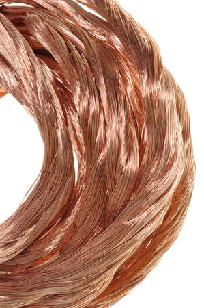 Copper wire , flow energy  Stock Photo - 16587955