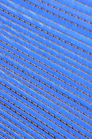 Blue corrugated cardboard stacked photo