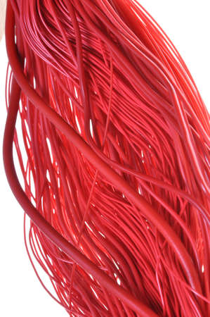 Abstract design Internet network, red cables photo