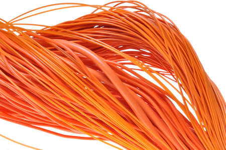 Abstract design Internet network, orange cables  photo