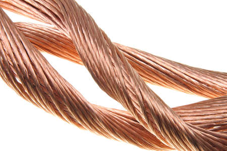 Copper wire, the concept of the energy industry Stock Photo - 17178847