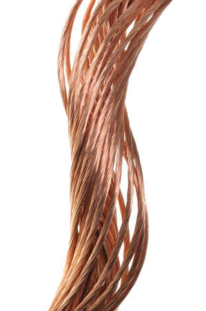 Copper wire, the concept of the energy industry Stock Photo - 17178834