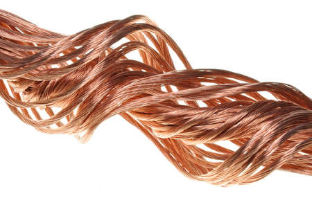 Copper wire, the concept of the energy industry Stock Photo - 17178842