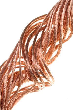 Copper wire, the concept of the energy industry photo