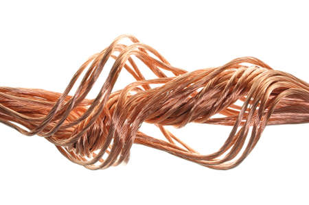 Copper wire, the concept of the energy industry Stock Photo - 17178836