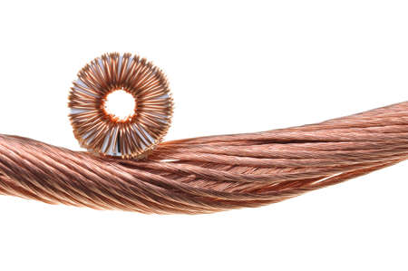 Copper coils and wires, the idea of electric energy consumption Stock Photo - 17259228