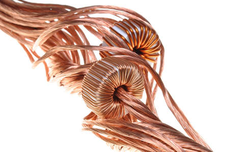 Power consumption in the industry, copper line and coil Stock Photo - 17516426