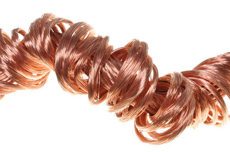 Copper wires concept of energy power industry  photo