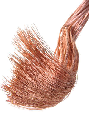Pure copper wire, symbol of industry and technology  photo