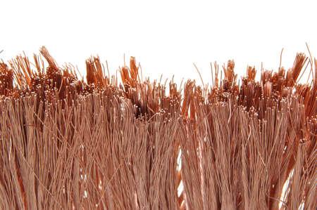 Copper wire, idea of development in technology  photo