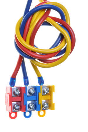 Color electric cable with terminal block  photo