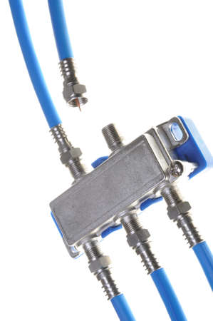 coax: Coaxial cables whit tv splitter