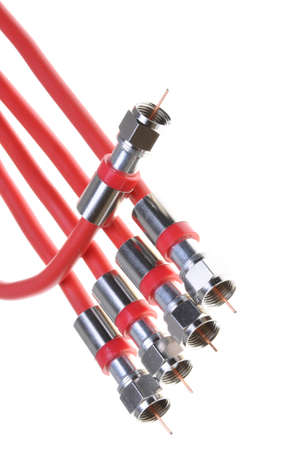 superconductor: Bunch of red coaxial cables with connectors