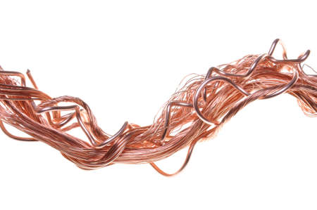 Line copper wire in abstract form  photo