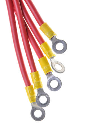 lug: Electric cables with insulated ring terminal lug
