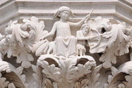 列資本ドージェ s イタリア、ベニスの宮殿 写真素材