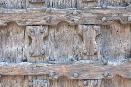 Detail of ancient wooden door  photo