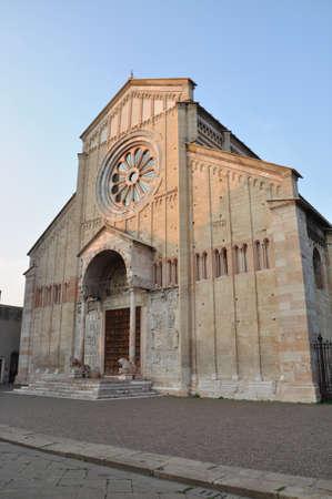 medioevo: Medioevo la cattedrale romanica di San Zeno Verona