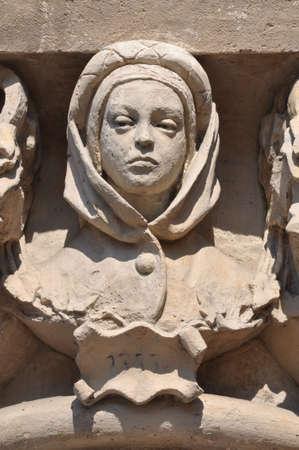 unesco: Column capital Sukiennice Cracow Poland