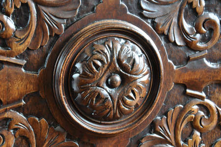 Ornament on the door of an old dresser