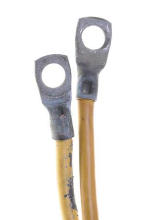 cables electricos: Old Ground cables el�ctricos con terminal de anillo