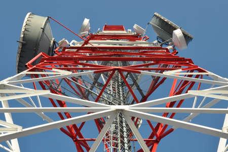 Tower of communication with antennas