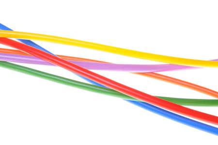 Cavi colorati usati nelle reti elettriche e informatiche