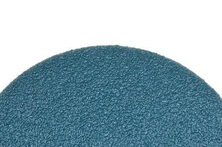 sandpaper: Round sandpaper isolated on white background Stock Photo
