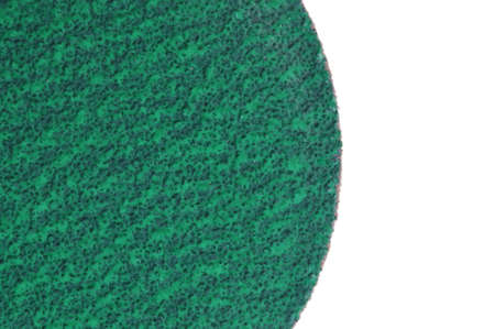 sandpaper: Round sandpaper isolated on white background
