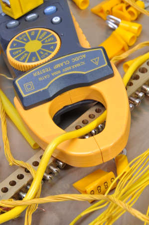 Clamp meter tool for measuring electrical installations  photo