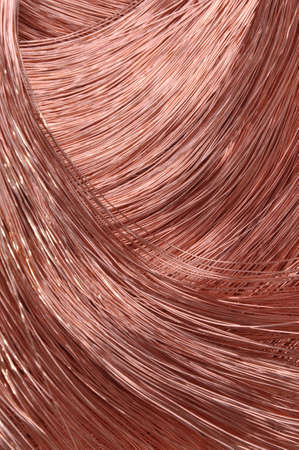 Copper wire for the power industry, background  photo