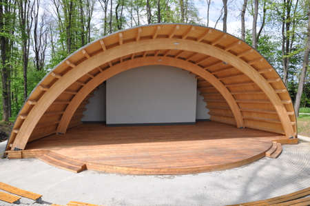 Amphitheater in the park summer stage  Stock Photo