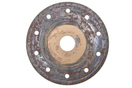 Rusty circular disk for stone cutting photo