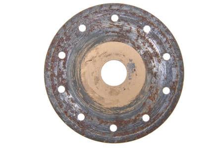 Rusty circular disk for stone cutting