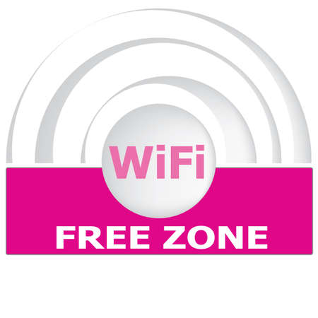 boardcast: Free internet zone hotspot sign