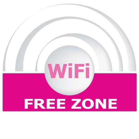 point chaud: Internet gratuit signe zone de hotspot Illustration