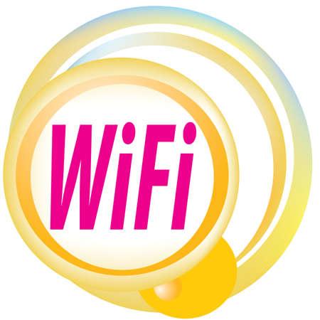 point chaud: Zone wifi gratuit signe vecteur hotspot Illustration