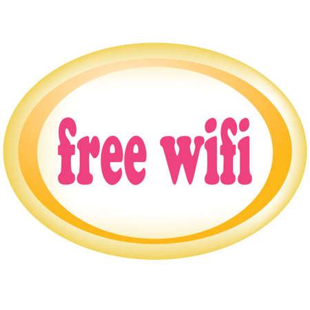 boardcast: Free wireless wifi zone hotspot sign Illustration