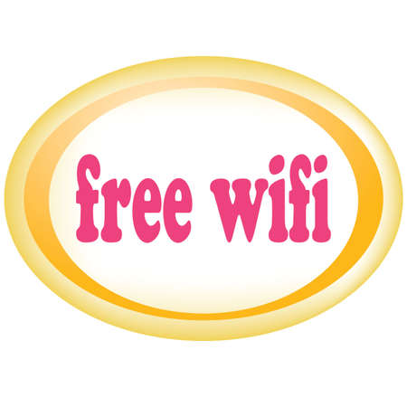 point chaud: Sans fil gratuit signe hotspot wifi zone