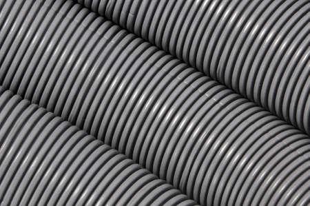 plastic conduit: Grey corrugated pipe
