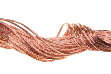 energy industry: Copper wire, the concept of the energy industry Stock Photo