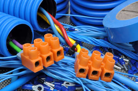 電気設備用電気部品キット 写真素材 - 35640178