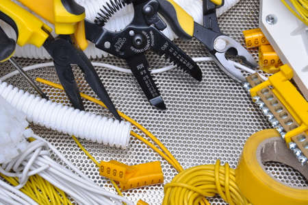 electrical contractor: Tools and component for electrical installation