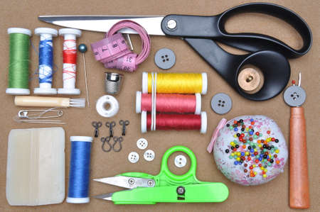 industria textil: Sewing kit tailor\ Foto de archivo