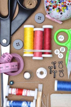 kit de costura: Sewing kit tailor\ Foto de archivo