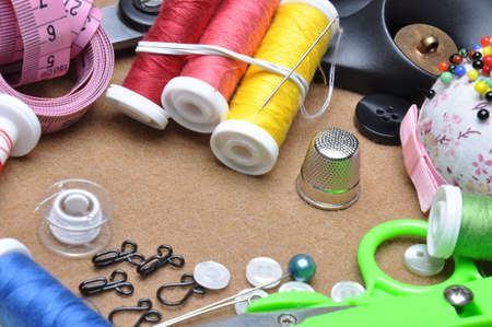 kit de costura: Sewing kit tailor\ Foto de archivo